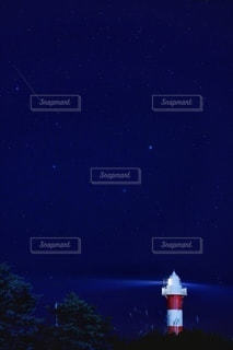 夜を見上げる空の景色の写真・画像素材[3596696]
