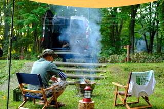 初夏のキャンプの写真・画像素材[4127702]