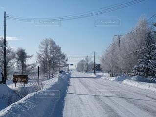 除雪作業完了の写真・画像素材[4134338]