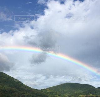 自然,空,屋外,雲,虹,山,丘,くもり