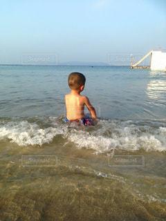 海,後ろ姿,こども,坊主,熱中症対策,海坊主