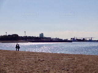海,空,公園,雲,影,シルエット,旅行,旅,夫婦,愛,母,父,老夫婦,ツーショット,両親
