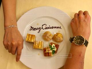 ケーキ,プレゼント,クリスマス,幸せ,ツーショット,プレゼント交換