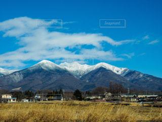 風景,アウトドア,空,雲,青空,山,車窓,休日,アルプス,お出かけ,日中