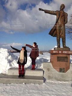 北海道の冬の写真・画像素材[388288]