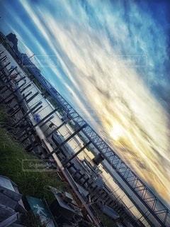 桟橋の眺めの写真・画像素材[3399284]
