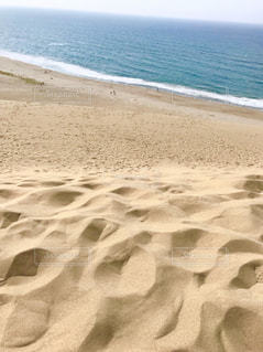 海に隣接する砂浜の写真・画像素材[2356317]