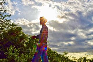空,夕日,幸せ,淡路島