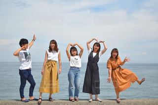 ビーチの人々 のグループの写真・画像素材[1435050]