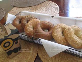 食べ物,朝食,アメリカ,パン,ベーグル,テーブルフォト,Einstein bros bagels