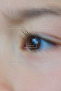 子ども,男子,目,眼差し,左目