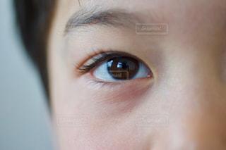 子ども,男子,目,眼差し,右目