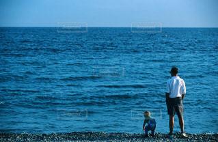 親子,海岸,ヨーロッパ,フランス,息子,父,ニース