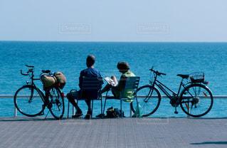 2人,アウトドア,自転車,海岸,フランス,お出かけ,ニース