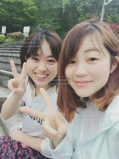 年の差姉妹の写真・画像素材[829379]