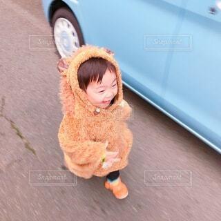 テディベア風の男の子の写真・画像素材[3937862]