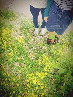 春,靴,スニーカー,ツーショット