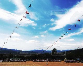 空中に凧の飛行の人々 のグループの写真・画像素材[771451]