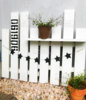 DIY,工作,手作り,飾り棚,ステンシル,鉢植え置き,手作りの棚