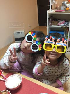 誕生日,パーティー,姉妹,ツーショット