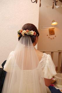花嫁の後ろ姿の写真・画像素材[1231407]