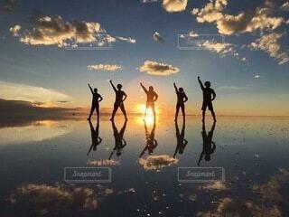 ウユニ塩湖の写真・画像素材[4281364]