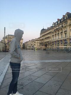 街並み,朝焼け,フランス,モンペリエ
