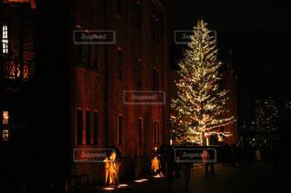 冬,クリスマス,クリスマスツリー,赤レンガ