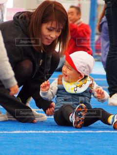 親子,男の子,運動会,息子,ツーショット