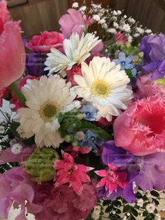 花,ピンク,白,花束,プレゼント