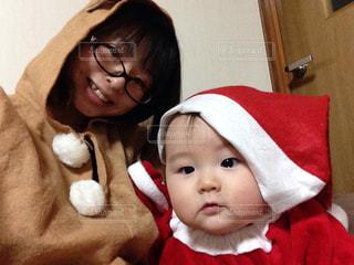 クリスマス,サンタ,トナカイ,ママと子供
