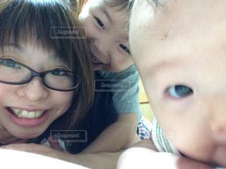 自撮り,インカメ,ママと子供