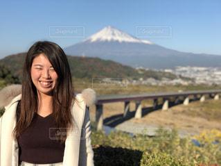 富士山と笑顔 - No.1019879