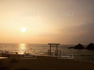 海,空,夕日,夕暮れ,二見ヶ浦