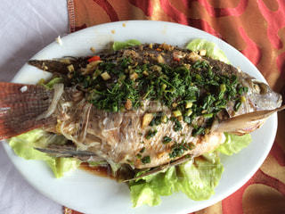 ベトナム,ハノイ,クルージング,ハロン湾,魚焼魚