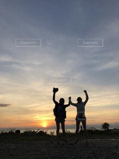 空,夕日,フィリピン,オランゴ島
