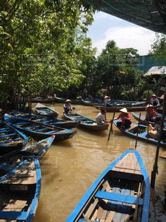 風景,海外,水面,景色,木漏れ日,ベトナム,海外旅行,リバークルーズ
