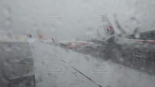 雨,水,飛行機,野外,台風,大雨