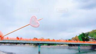 空,橋,川,観光地,ハート,お菓子,棒,マシュマロ