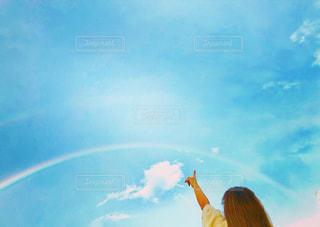 空に虹の写真・画像素材[1465155]