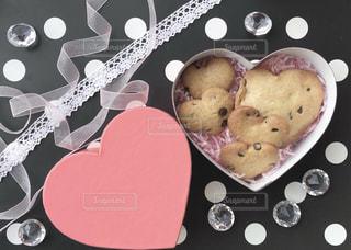 ピンク,プレゼント,ハート,リボン,お菓子,クッキー,バレンタイン,バレンタインデー,飾り,行事,ラッピング,Valentine