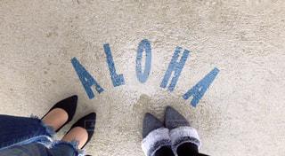 地面に靴のグループの写真・画像素材[1800374]