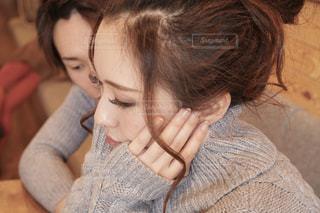 クローズ アップの女の子のの写真・画像素材[1812416]