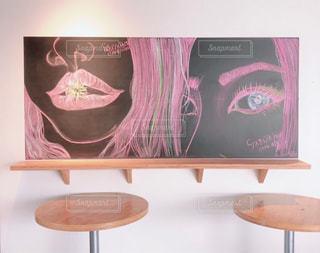 文字,ボート,絵,アート,テーブル,壁,黒板,チョーク