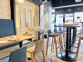 食堂のテーブルの写真・画像素材[2257910]