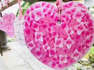 花,ピンク,ハート,紫陽花,絵馬,花柄,柄,三室戸寺