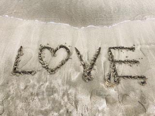 海,LOVE,文字,砂,砂浜,波,英語,ハート,英字,ラブ