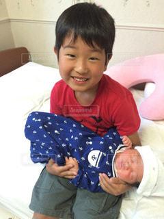 かわいい,笑顔,赤ちゃん,兄弟,病院,産まれたて,産院,ツーショット