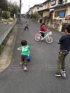 自転車,仲良し,楽しい,サイクリング,兄弟,姉妹,キックボード