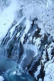 雪の滝の写真・画像素材[1450287]